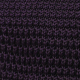 Dark Purple Pointed Knitted Tie Fabric