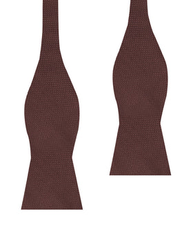 Dark Brown Basket Weave Self Bow Tie