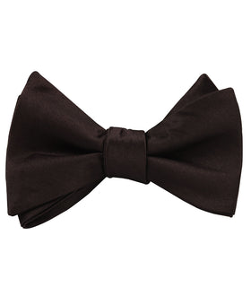 Dark Brown Truffle Satin Self Bow Tie