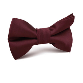 Dark Merlot Wine Satin Kids Bow Tie