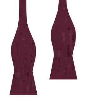 Dark Merlot Wine Twill Self Bow Tie