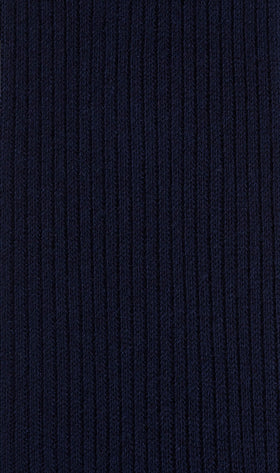 Dark Midnight Navy Blue Ribbed Socks