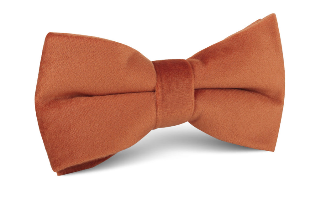 Dark Autumn Gold Velvet Bow Tie