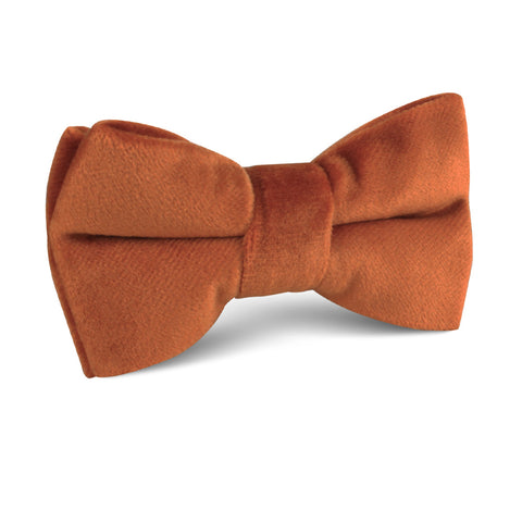 Dark Autumn Gold Velvet Kids Bow Tie