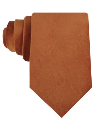 Dark Autumn Gold Velvet Necktie