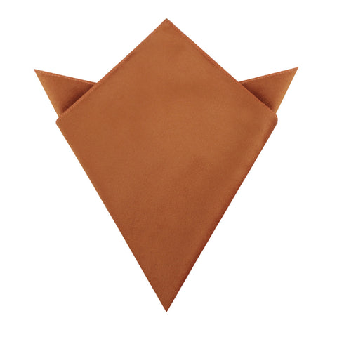 Dark Autumn Gold Velvet Pocket Square