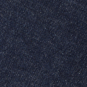 Dark Blue Raw Denim Linen Diamond Self Bow Tie