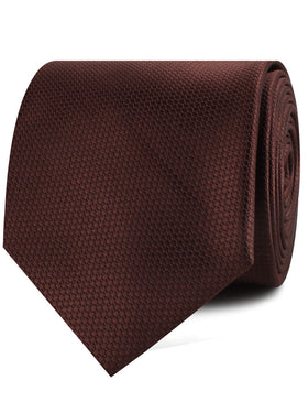 Dark Brown Basket Weave Necktie