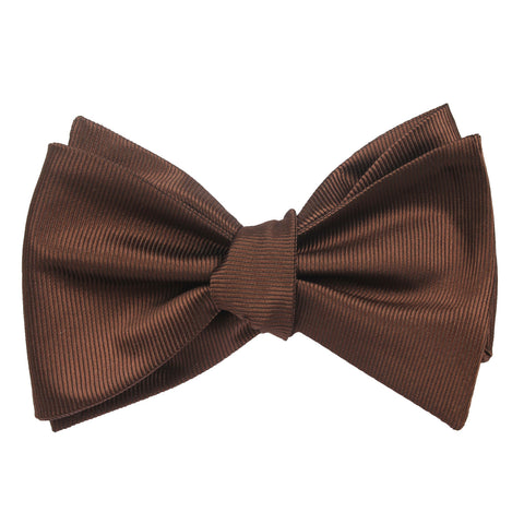 Dark Brown Bow Tie Untied