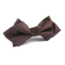 Dark Brown Diamond Bow Tie