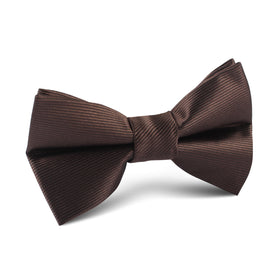 Dark Brown Kids Bow Tie