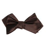 Dark Brown Self Tie Diamond Tip Bow Tie 2