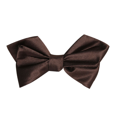 Dark Brown Self Tie Diamond Tip Bow Tie