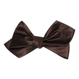 Dark Brown Self Tie Diamond Tip Bow Tie 3