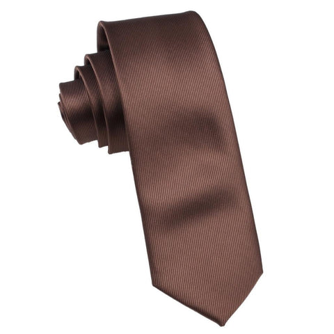 Dark Brown Skinny Tie