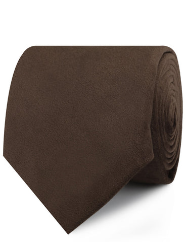 Dark Brown Velvet Necktie