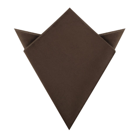 Dark Brown Velvet Pocket Square