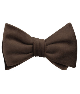 Dark Brown Velvet Self Bow Tie