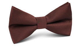 Dark Brown Weave Bow Tie