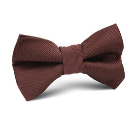 Dark Brown Weave Kids Bow Tie