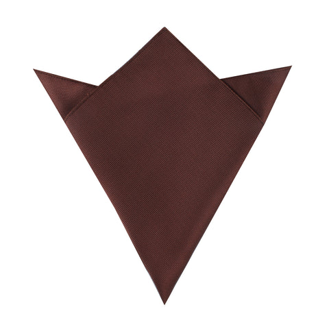 Dark Brown Weave Pocket Square