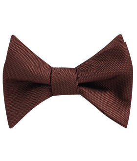 Dark Brown Weave Self Bow Tie