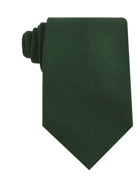 Dark Emerald Green Linen Necktie