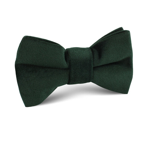 Dark Green Bond Velvet Kids Bow Tie