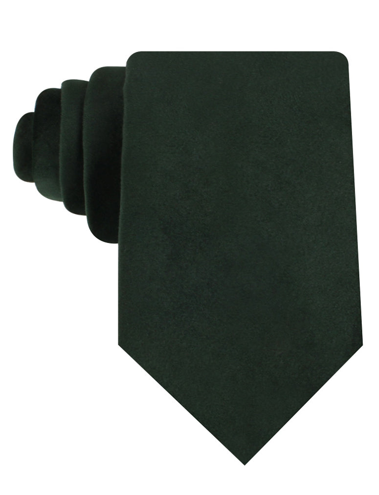 Bond Dark Green Bond Velvet Necktie