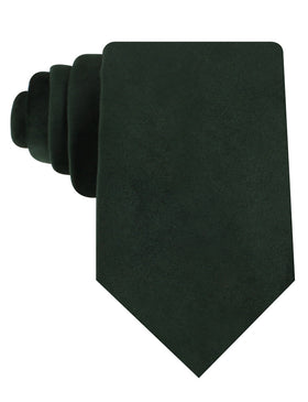 Dark Green Bond Velvet Necktie
