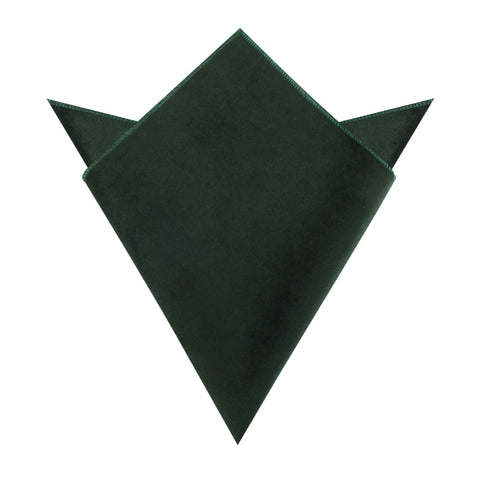 Dark Green Bond Velvet Pocket Square
