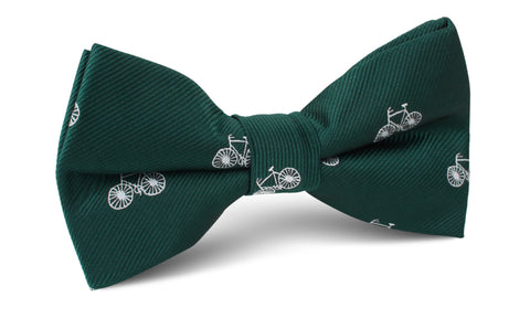 Dark Green French Bicycle Bow Tie