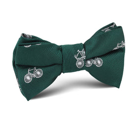 Dark Green French Bicycle Kids Bow Tie