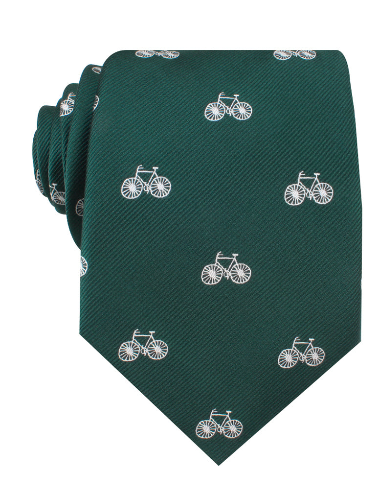 Dark Green French Bicycle Necktie