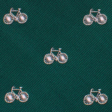 Dark Green French Bicycle Necktie Fabric