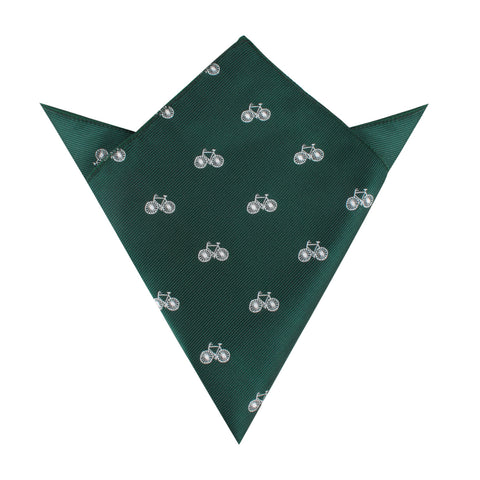 Dark Green French Bicycle Pocket Square
