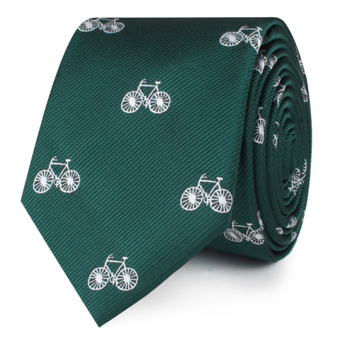 Dark Green French Bicycle Skinny Tie