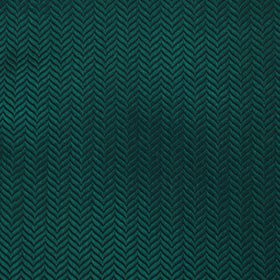Dark Green Herringbone Pocket Square