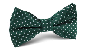 Dark Green Mini Polka Dots Bow Tie