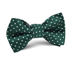 Dark Green Mini Polka Dots Kids Bow Tie