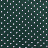 Dark Green Mini Polka Dots Necktie Fabric