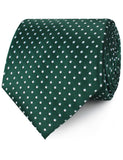 Dark Green Mini Polka Dots Neckties