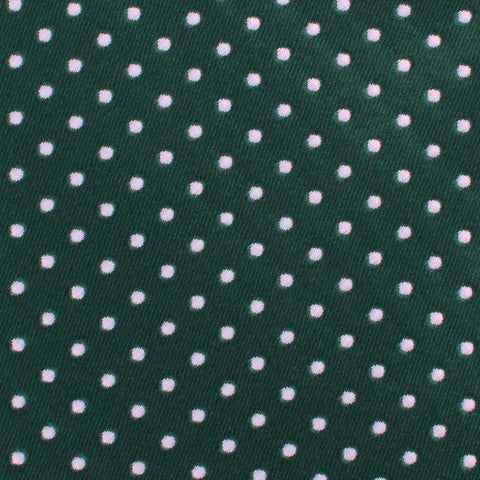 Dark Green Mini Polka Dots Pocket Square