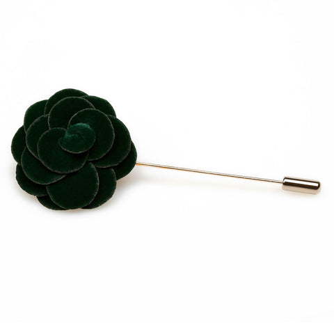 Dark Green Mini Velvet Lapel Pin