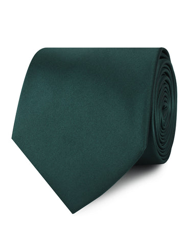 Dark Green Satin Necktie