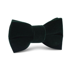 Dark Green Velvet Kids Bow Tie