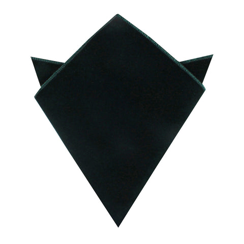 Dark Green Velvet Pocket Square