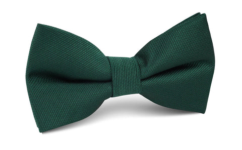 Dark Green Weave Bow Tie