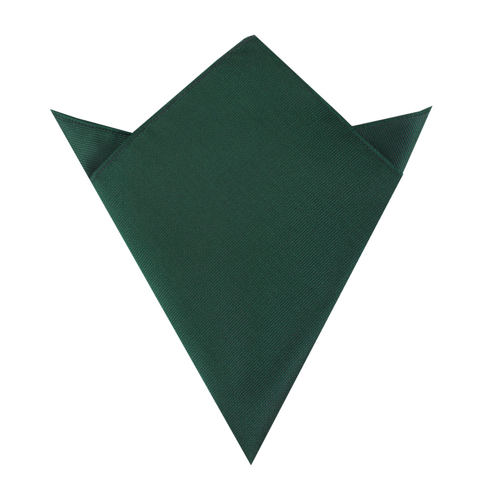 Dark Green Weave Pocket Square