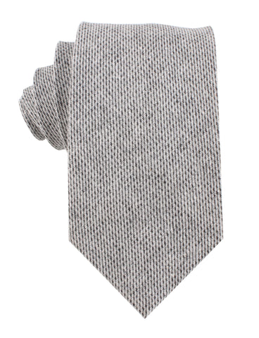 Dark Grey Tweed Linen Necktie